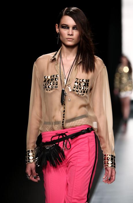 Frankie Morello 2012 2013 Camicia Nude Look Borchie