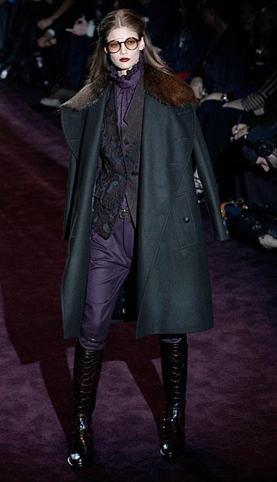 Gucci 2012 Cappotto e Pantaloni Viola