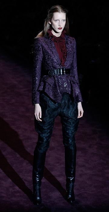 Gucci 2012 Giacca Cintura Nera e Pantaloni