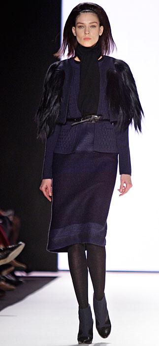 Carolina Herrera - giacca con maniche di pelliccia