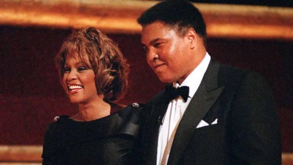 Whitney Houston e Muhammad Ali