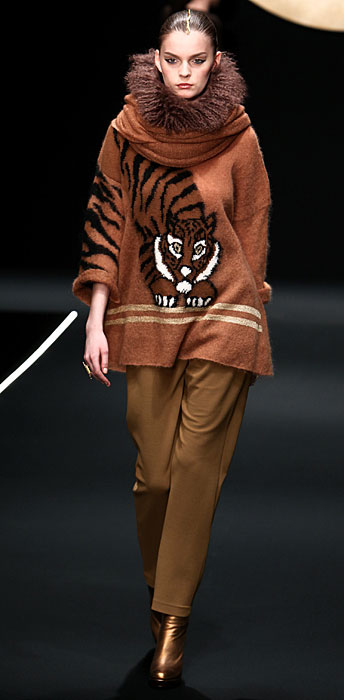Krizia 2012 Maxi Maglia con Stampa e Pantaloni