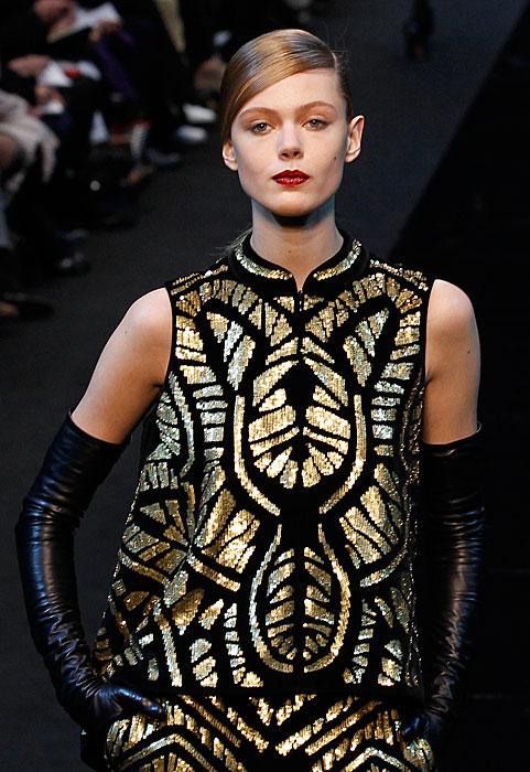 Guy Laroche 2012 2013 - abito oro e nero