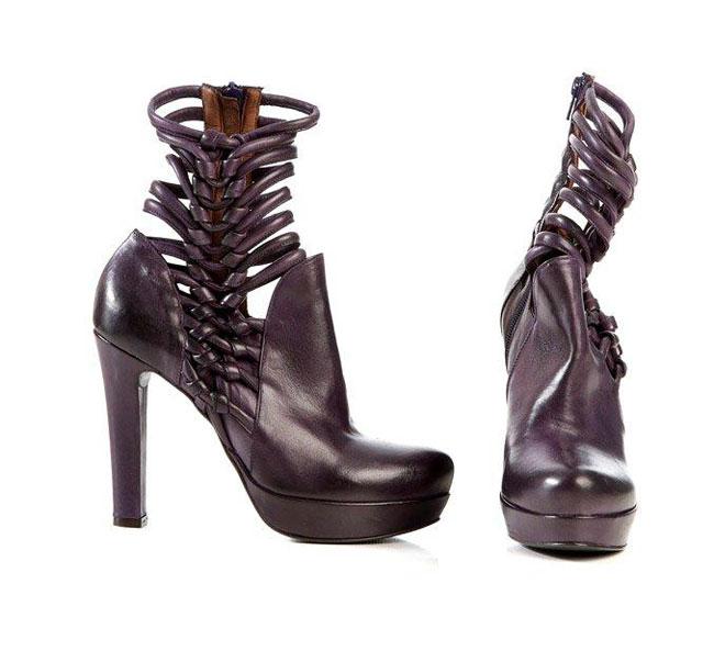 Malloni 2012 2013 - scarpa con tacco viola