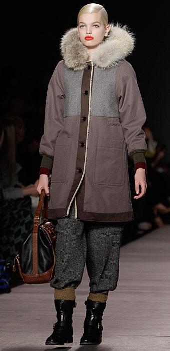 Marc by Marc Jacobs - cappotto con pelliccia al collo