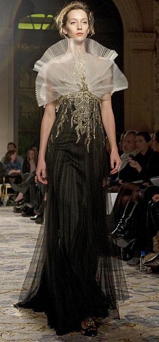 Marchesa - abito lungo nero