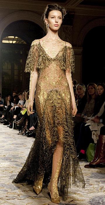 Marchesa - abito trasparente con perline
