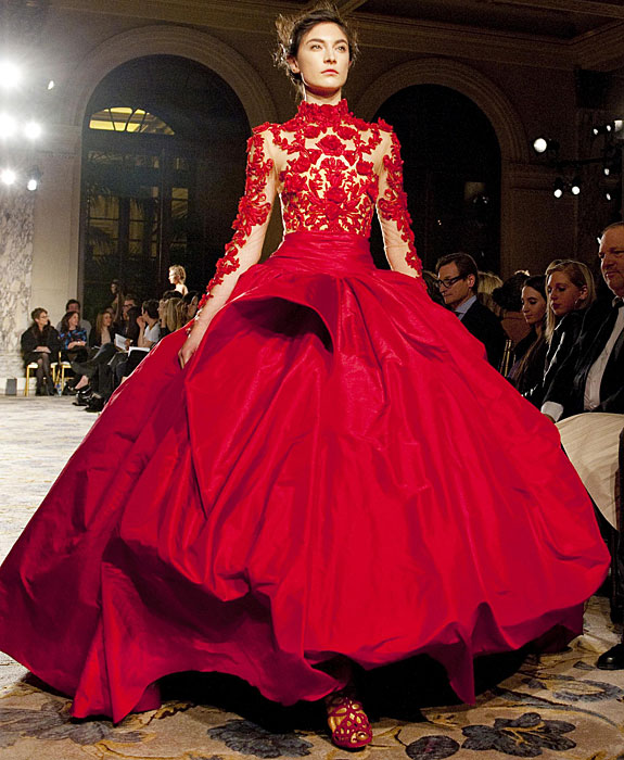 Marchesa - abito rosso