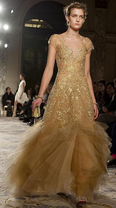 Marchesa - abito dorato
