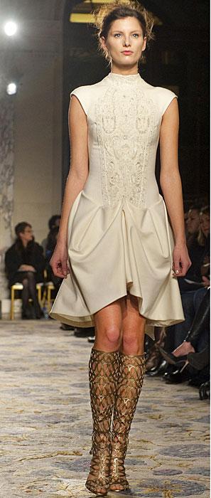 Marchesa - mini abito bianco