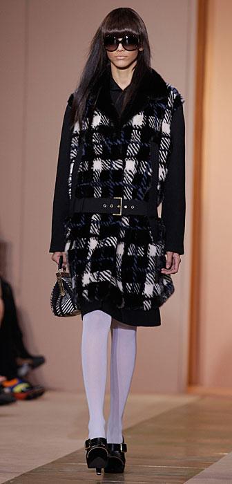 Marni 2012 2013 - cappotto bianco e nero