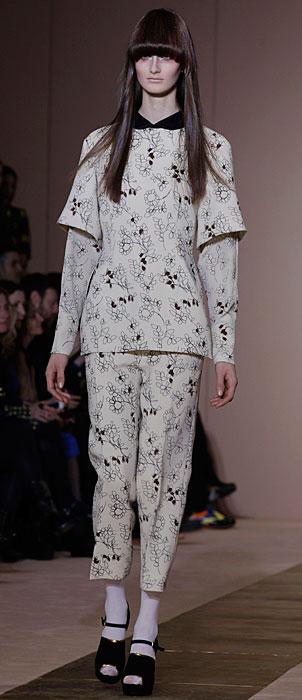 Marni 2012 2013 - abito con stampe bianco
