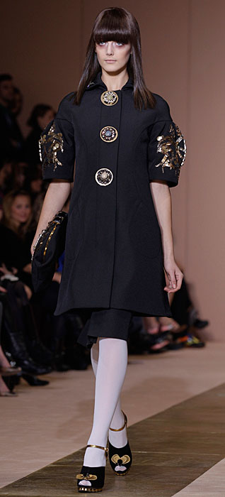 Marni 2012 2013 - cappotto con bottoni in vista