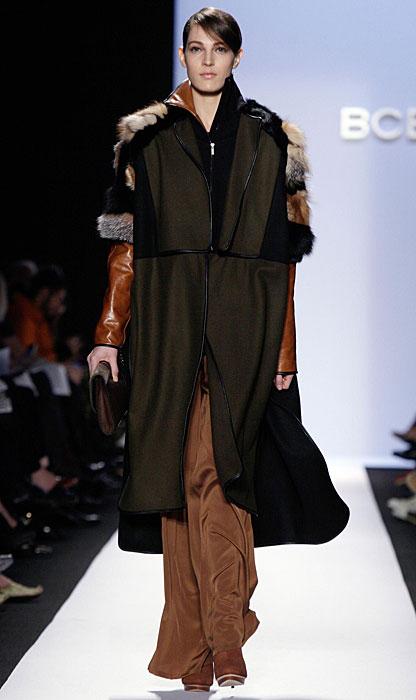 BCBG Max Azria - cappotto con pelliccia