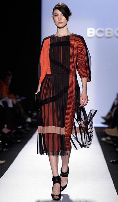 BCBG Max Azria - abito arancione e nero