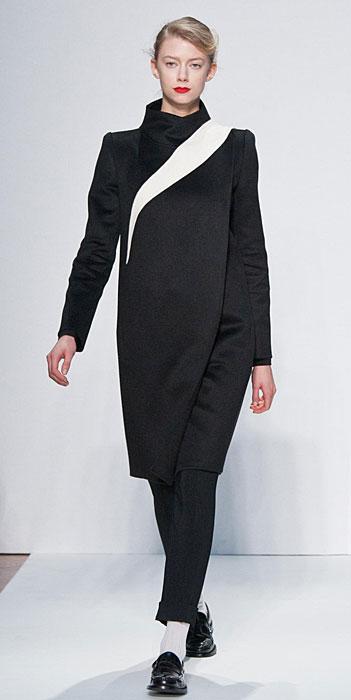 Mila Schon 2012 2013 - cappotto nero e bianco