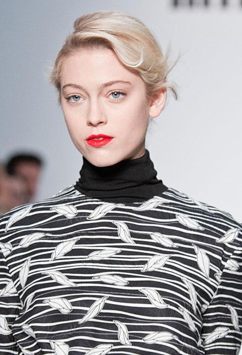 Mila Schon 2012 2013 - abito con stampe bianco e nero