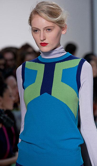 Mila Schon 2012 2013 - stampa verde e blu