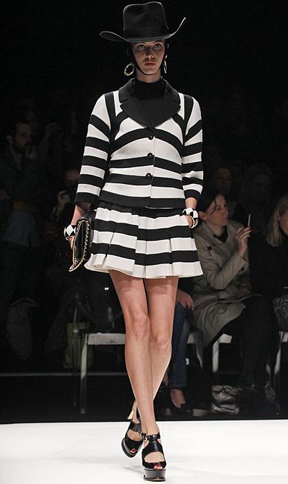 Moschino 2012 2013 Completo Righe Bianco Nero