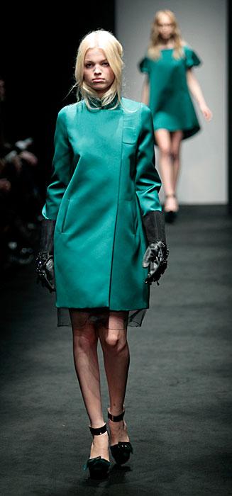 °21 2012 Cappotto Verde Acqua