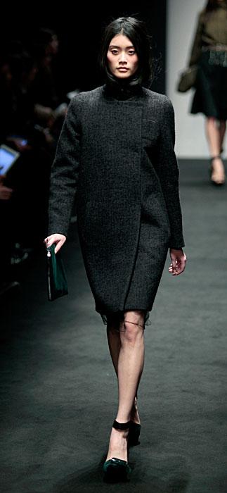 °21 2012 Cappotto Nero con Pochette