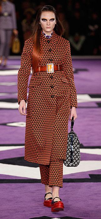 Prada 2012 Cappotto con Cintura a Vita Alta