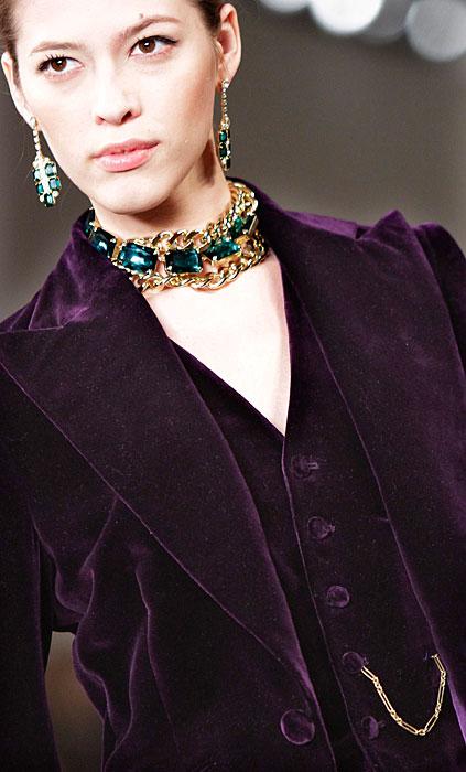 Ralph Lauren - giacca viola di velluto