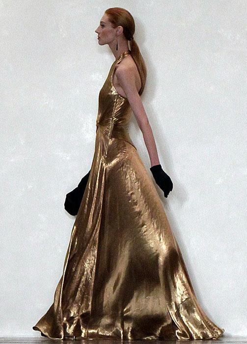 Ralph Lauren - abito lungo dorato