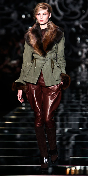 Ermanno Scervino 2012 2013 - giacca con collo pelliccia