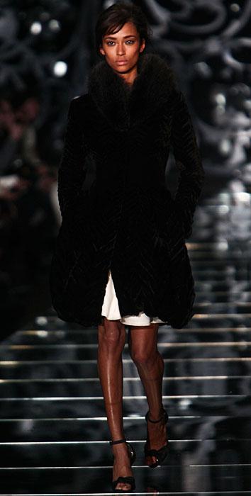 Ermanno Scervino 2012 2013 - cappotto nero con pelliccia