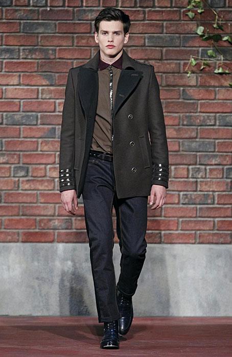 Tommy Hilfiger - cappotto doppio petto con maglia mattone