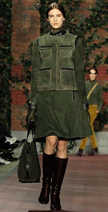 Tommy Hilfiger Donna - abito verde con stivali