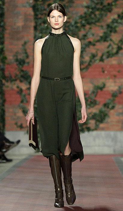Tommy Hilfiger Donna - abito lungo verde senza maniche