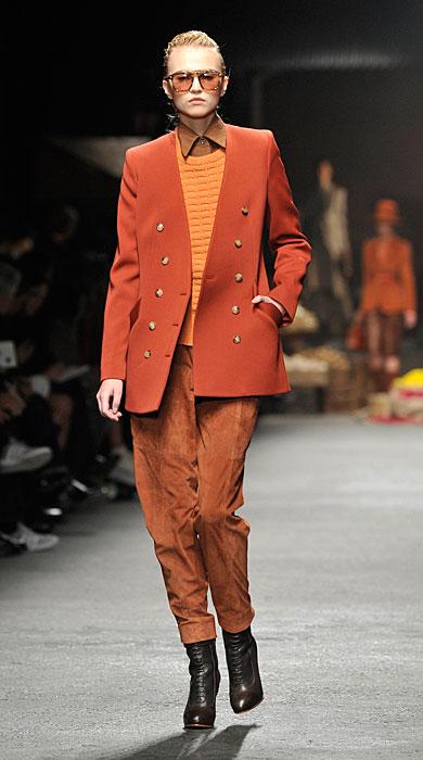 Trussardi 2012 Giacca Arancione e Pantaloni
