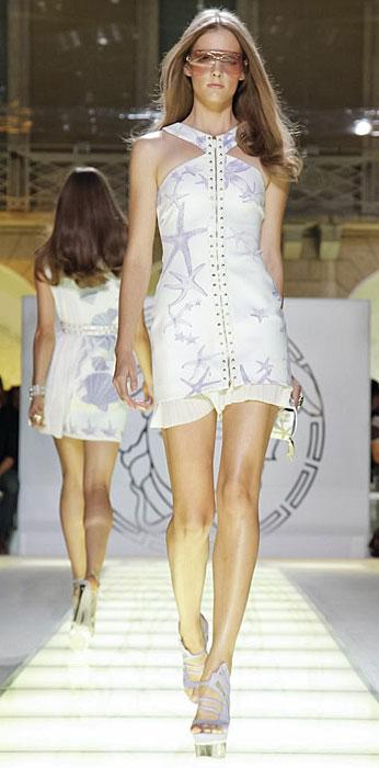 Versace - mini abito con allacciatura sul collo