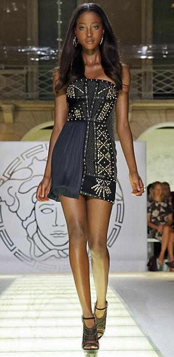 Versace - mini abito senza spalline