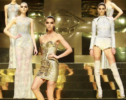 Versace Atelier minidress dorato