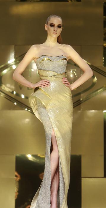 Versace Atelier abito sirena con spacco