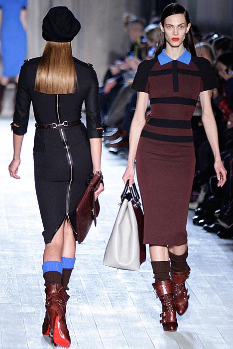 Victoria Beckham - abiti stretch marrone e nero