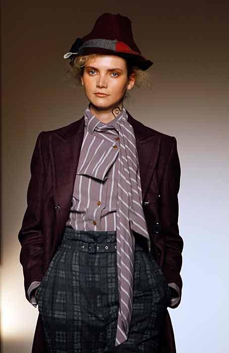 Vivienne Westwood Red Label - camicetta viola e bianca