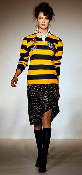 Vivienne Westwood Red Label - maglia gialla e nera
