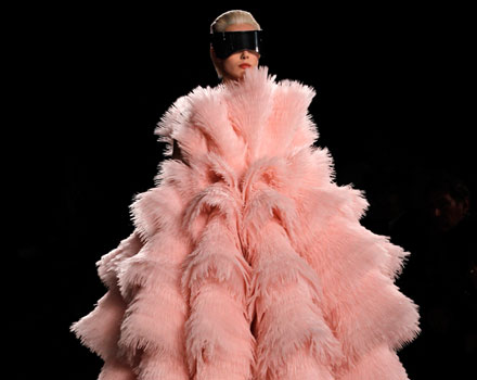 Alexander McQueen 2012 2013 - abito lungo rosa