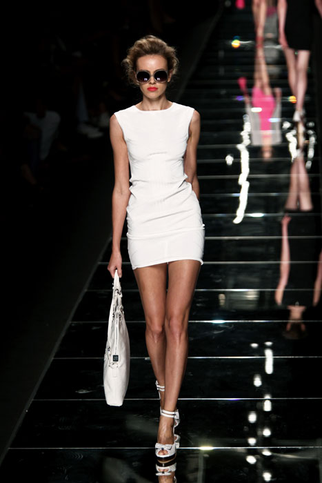 Mini abito bianco John Richmond