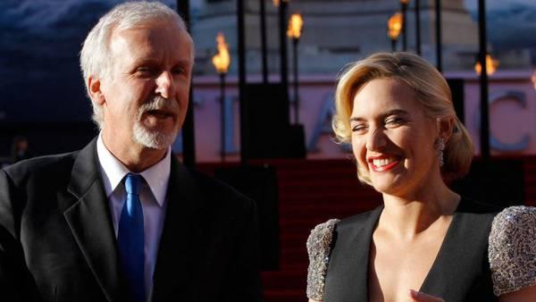 Titanic - James Cameron e Kate Winslet
