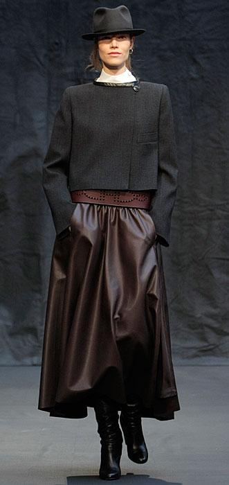 Hermès 2012 2013 - gonna marrone