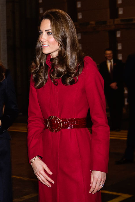 Kate Middleton - cappotto rosso