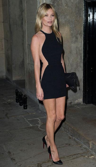 Kate Moss - abito corto nero