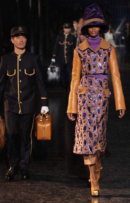 Louis Vuitton 2012 2013 - cappotto viola e marrone