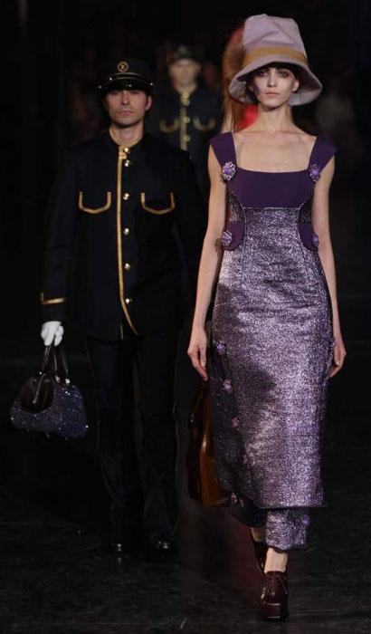 Louis Vuitton 2012 2013 - abito lungo viola