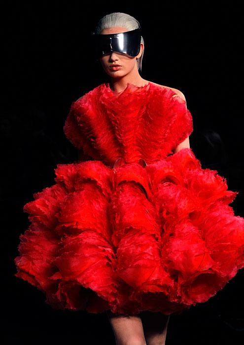 Alexander McQueen 2012 2013 - abito corto rosso